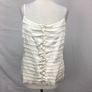 Cache Ivory Twist Pleat Camisole Top